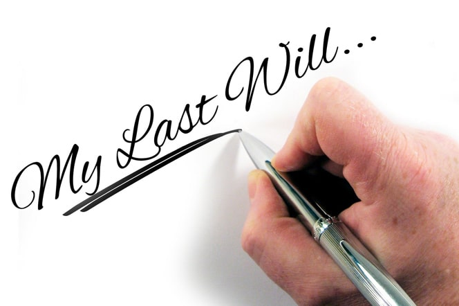 Writing my last will